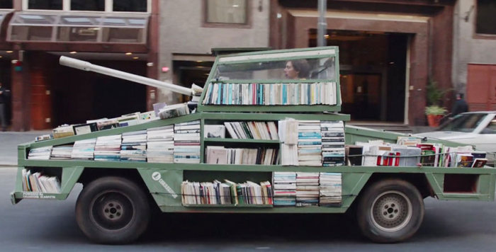 This Military Tank Delivers Free Books
