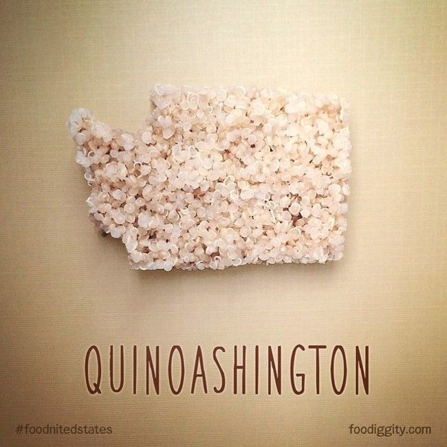 Dad And His Son Are Creating A Map Of The US With Puns And Food