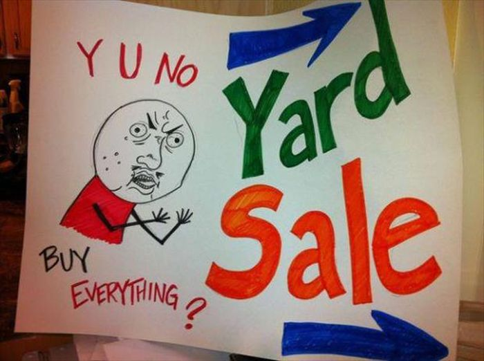 These Garage Sale Signs Are Just Perfect