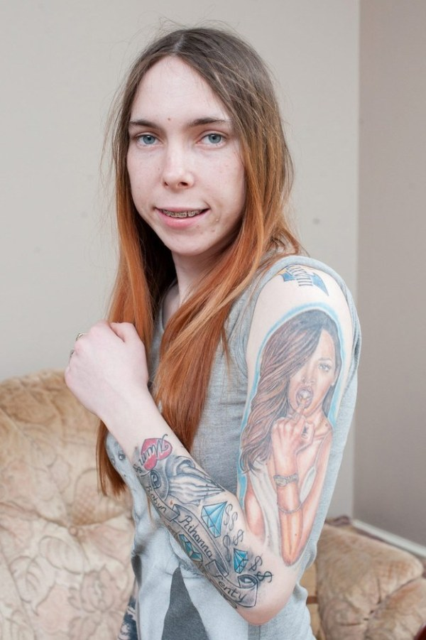 This Woman Covered Herself In Tattoos Of Rihanna's Face