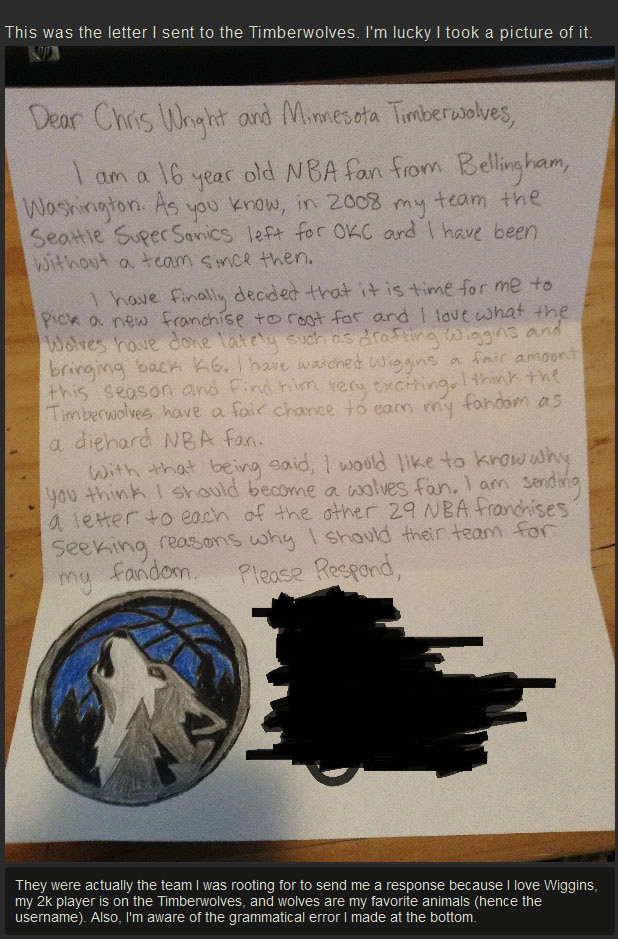 Every NBA Team Got A Letter From This Little Kid But Only One Responded