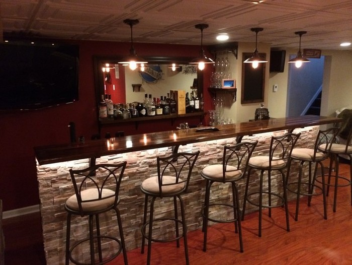 Man Turns Unfinished Basement Into The Ultimate Bar