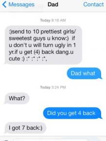 Dad Trolls Daughter Via Text Message