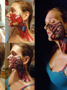 Danny Quirk Reveals What's Under Human Skin With Paint And Markers