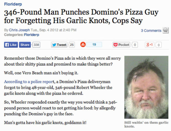Bizarre But True Food Related News Stories