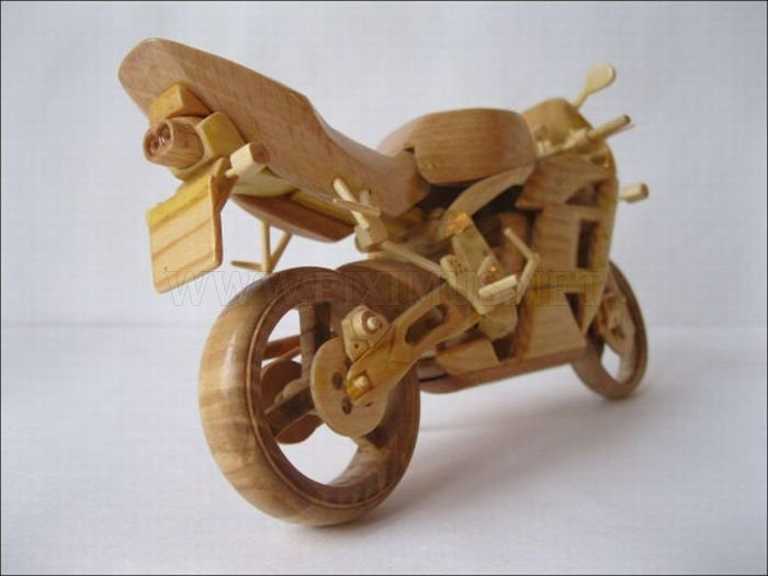 Wooden Miniature Motorcycles