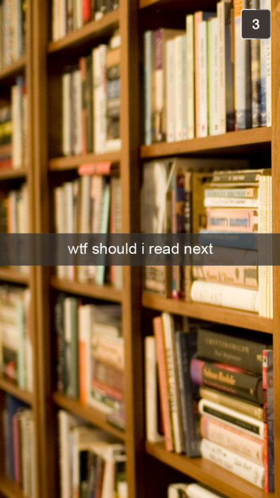 Snapchats That Only Book Lovers Will Understand