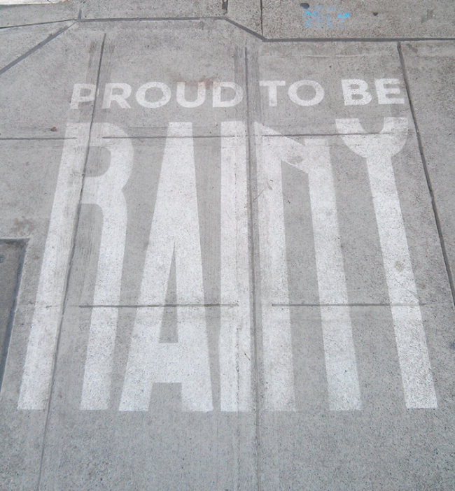 Seattle Artist Creates Street Art That Can Only Be Seen When It's Wet