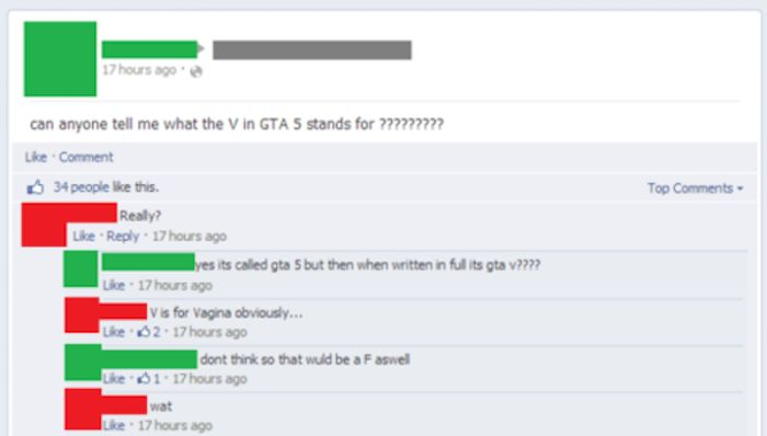 Some People Are Just Too Stupid To Be Using Facebook