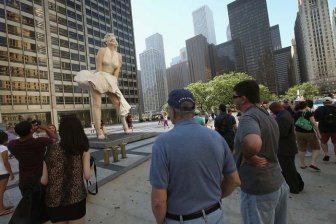 Marilyn Monroe Sculpture In Chicago