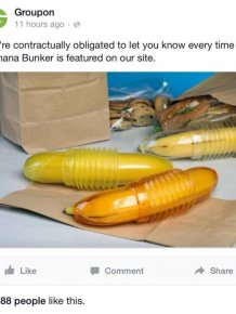 Facebook Had A Field Day When Groupon Introduced The Banana Bunker