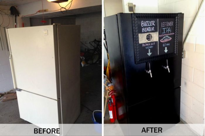 The Beer Fridge Before And After