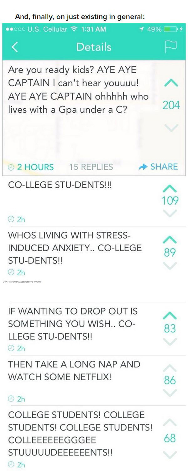 24 Pictures That Perfectly Sum Up The College Experience