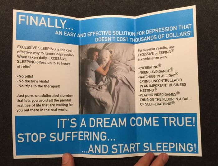 Parody Brochures For Prescription Drugs