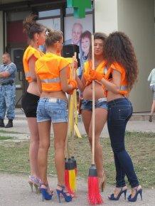 Pretty girls weekend cleaning in Kharkov