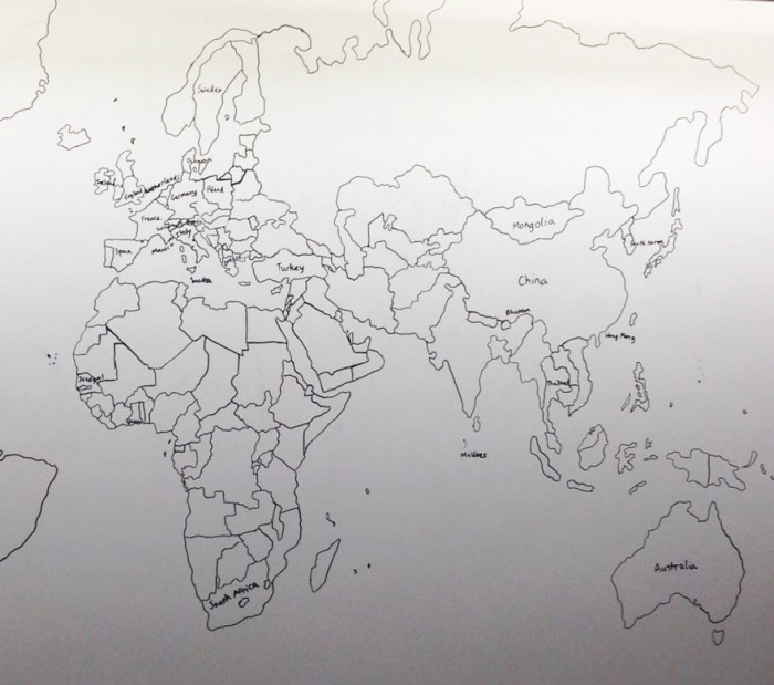 Boy With Autism Draws Amazing World Map Entirely From Memory