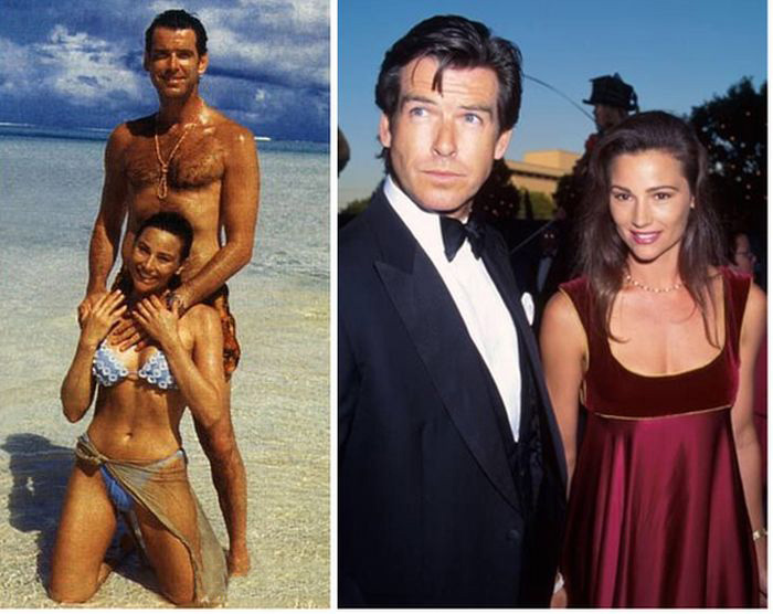 Pierce Brosnan And His Wife Back In The Day And Today