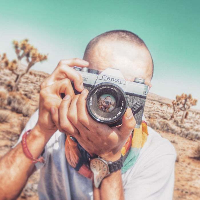 Experimental Self Portraits At Joshua Tree National Park