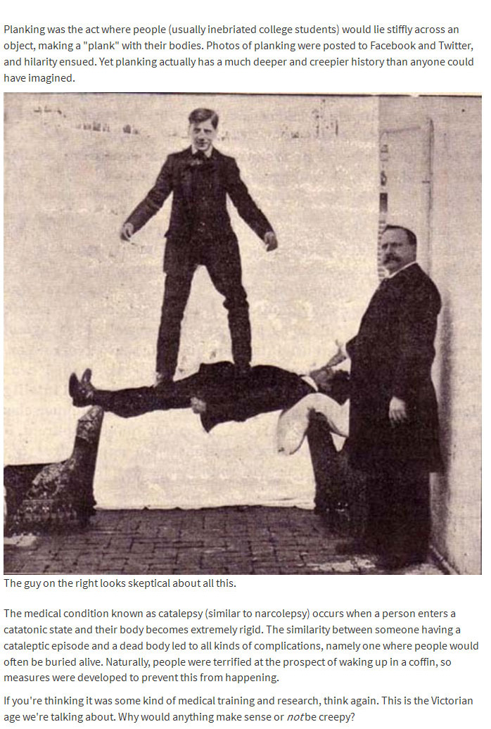 A Look Back At The Creepy History Behind Planking