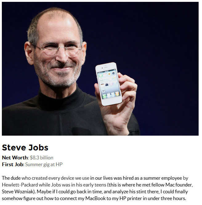 Surprising First Jobs Of 25 World Famous Billionaires