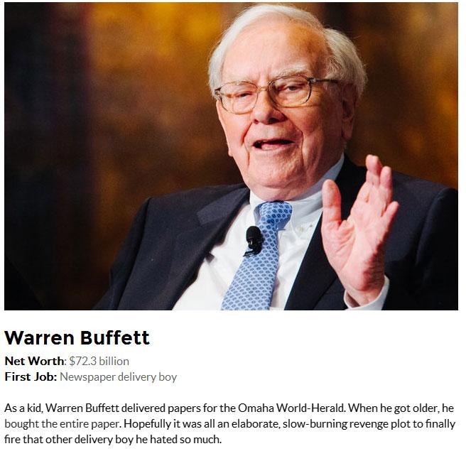 Surprising First Jobs Of 25 World Famous Billionaires
