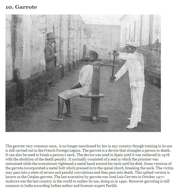 The 10 Most Insane Methods Of Execution
