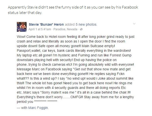 Friend Pulls The Wrong Kind Of Prank On This Professional Poker Player