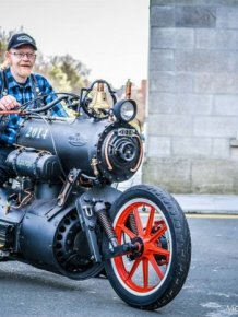 Revatu Customs Built An Epic Looking Steam Powered Motorcycle
