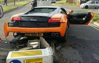 Driver Crashes $250,000 Lamborghini And Laughs It Off