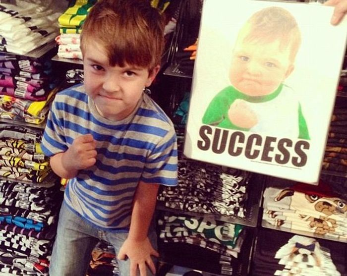 Success Kid From The Popular Meme Is Raising Money To Help His Dad