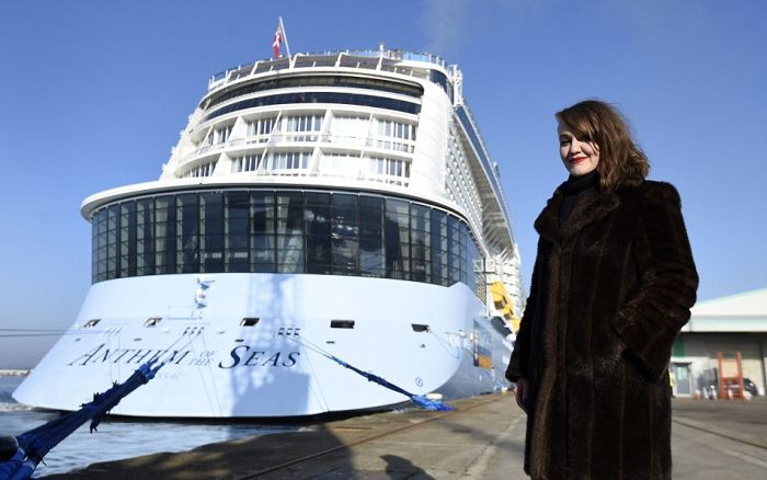 The World's Third Largest Cruise Ship Makes A Grand Entrance