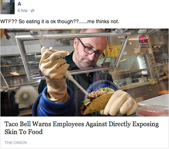 It's Hilarious When People Take The Onion Seriously On Facebook