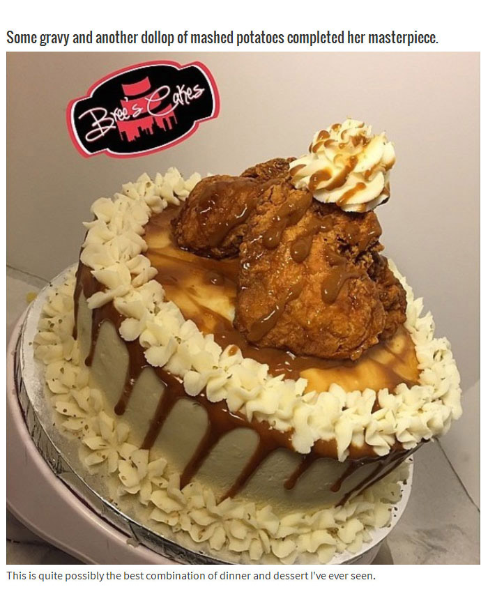 Fried Chicken Plus Mashed Potatoes Equals The Best Cake Ever