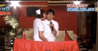 Japanese Game Show Features Men Getting Handjobs While Singing