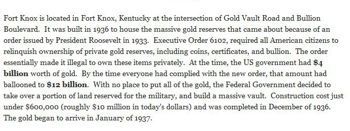 How Much Gold Is Currently Being Stored In Fort Knox?
