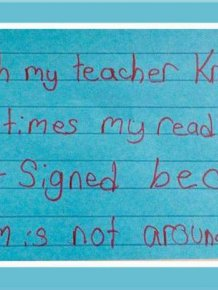 Third Graders Write Honest Messages To Their Teachers
