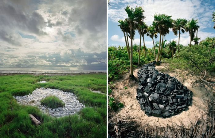 Man Takes Trash From The Shores Of Mexico And Turns It Into Art