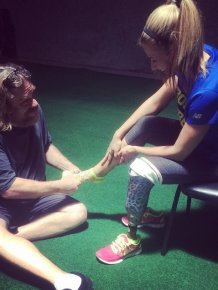 Boston Bombing Survivor Hits The Ground Running To Finish The Race