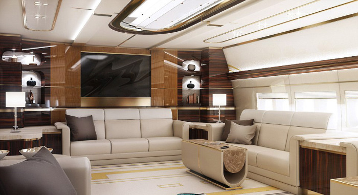 This Jumbo Jet Is A $400 Million Dollar Mansion With Wings