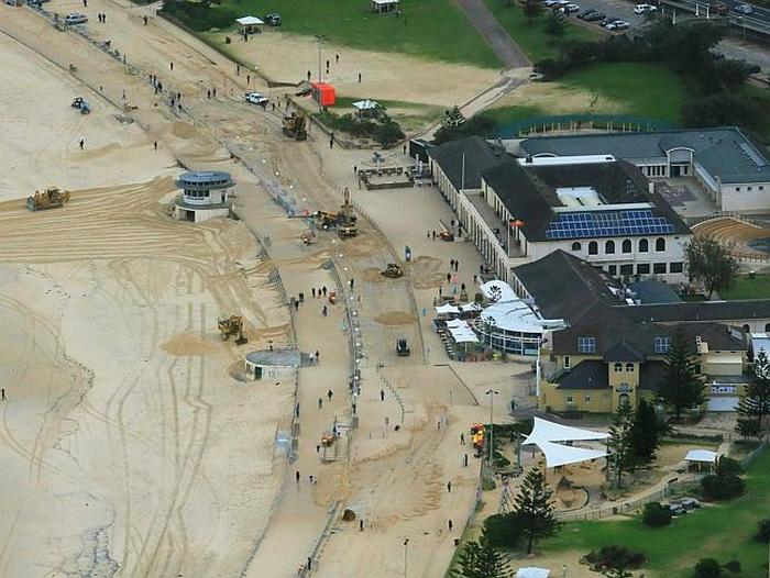 Massive Storms In Sydney Bury Bondi Beach In Sand