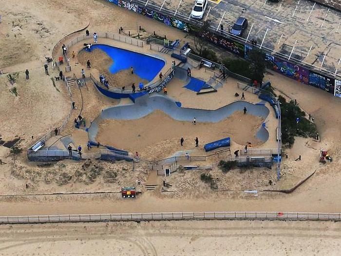 Massive Storms In Sydney Bury Bondi Beach In Sand