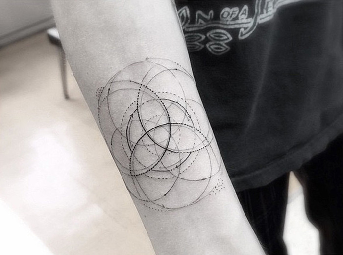 Brian Woo's Geometric Tattoos Have Made Him Famous