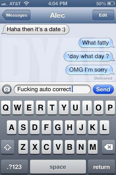 Those Times When Autocorrect Creates Awkward Moments