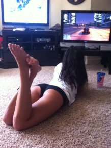Hot girls playing video games