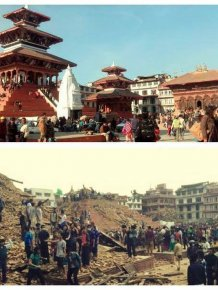 Before And After Photos Of Nepal Show The Effect Of A Deadly Earthquake