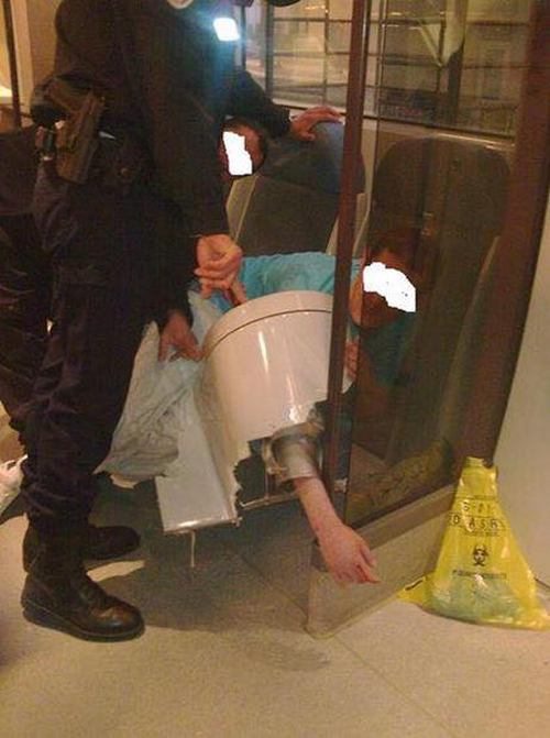 His Arm Got Stuck In A Toilet After He Dropped His Phone
