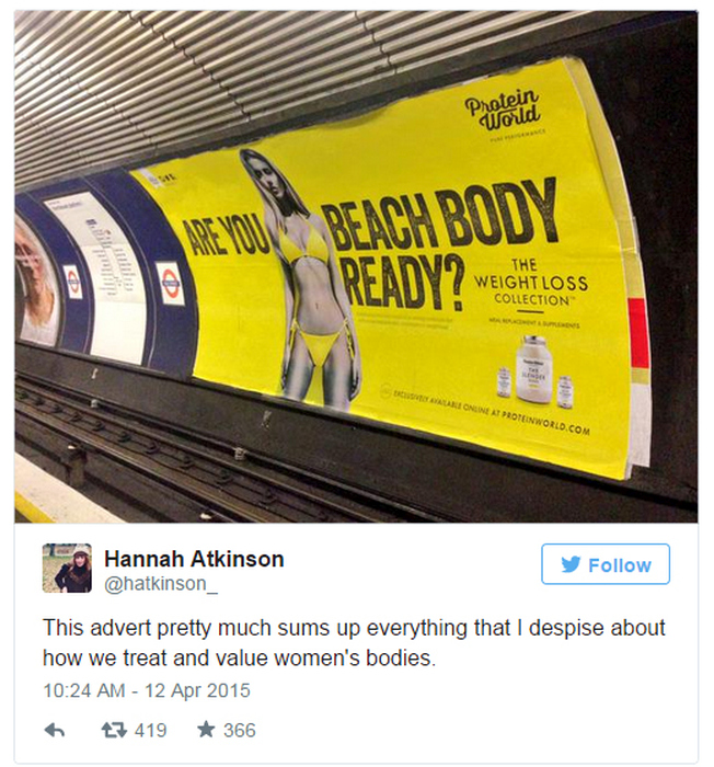 Feminists Rally Against New Beach Body Ready Ad