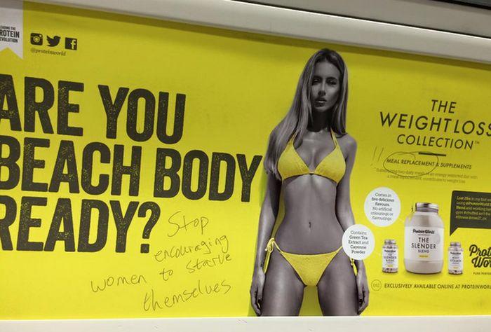 Feminists Rally Against New Beach Body Ready Ad