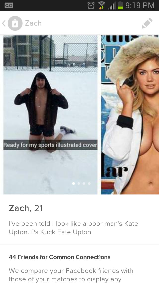 This Guy's Kate Upton Parody Picture On Tinder Is Working Wonders