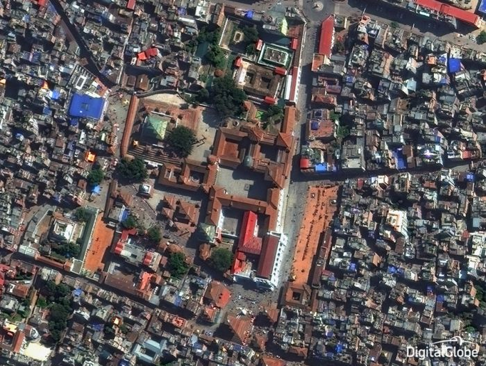 Satellite Images Show The Destruction That Has Taken Place In Nepal